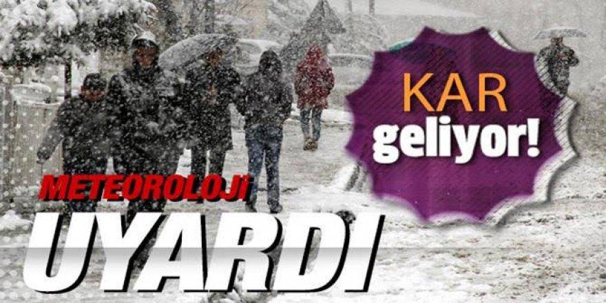 Erzurum, Ağrı, Kars ve Iğdır çevrelerinde kar yağışı bekleniyor