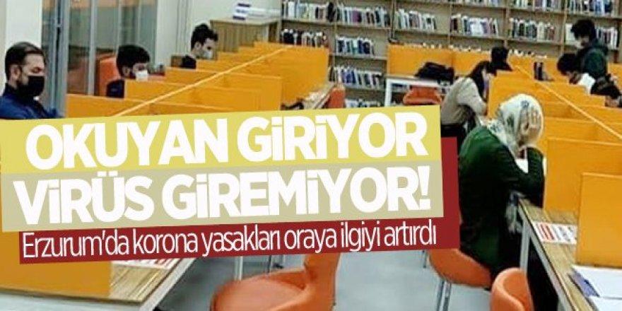Erzurum'da korona yasakları oraya ilgiyi artırdı