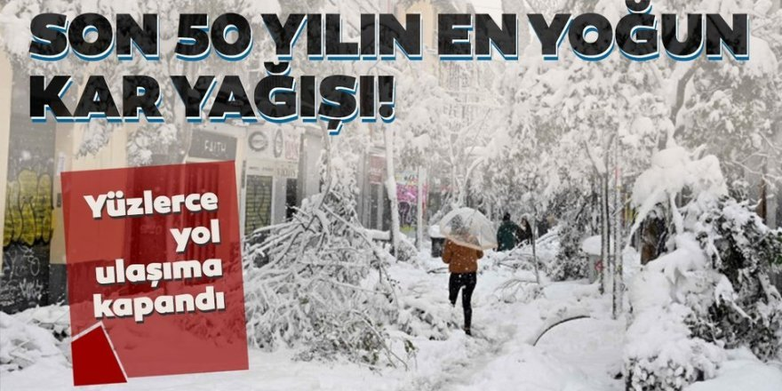 Erzurum ile Erzincan'da kar nedeniyle 1237 yerleşim biriminin yolu kapandı