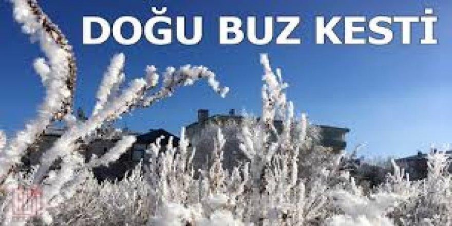 Doğu Anadolu'nun en soğuk şehri sıfırın altında 19 dereceyle Ağrı oldu