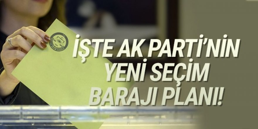 İşte AK Parti'nin ''tek başına'' ve ''ittifaklı'' yeni seçim barajı planı
