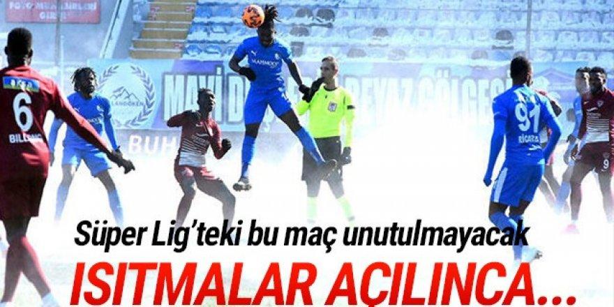 Erzurum'da alttan ısıtmalı maç
