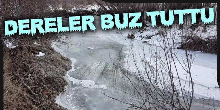 Doğu Anadolu'da dere ve nehirler buz tuttu