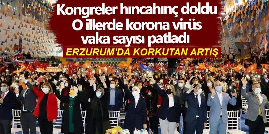Erzurum'da Kongreler hınca hınç doldu! Vaka sayısı patladı