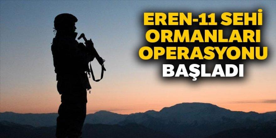 Eren-11 Sehi Ormanları Operasyonu başladı