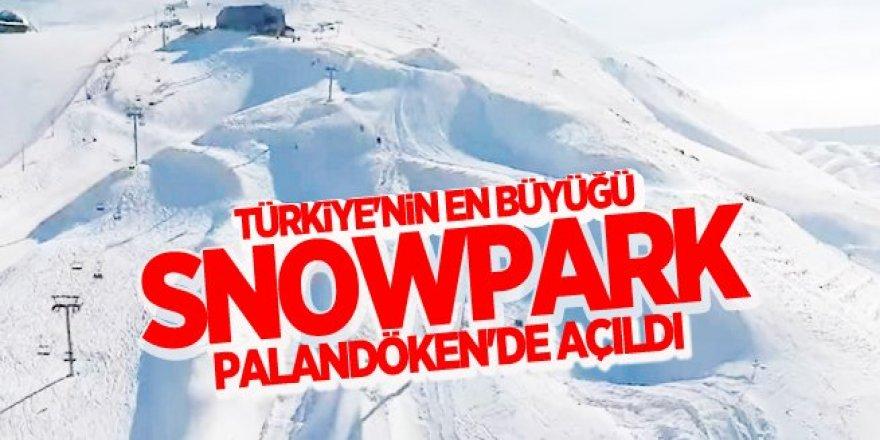 Türkiye'nin en büyük Snowpark'ı Palandöken'de açıldı