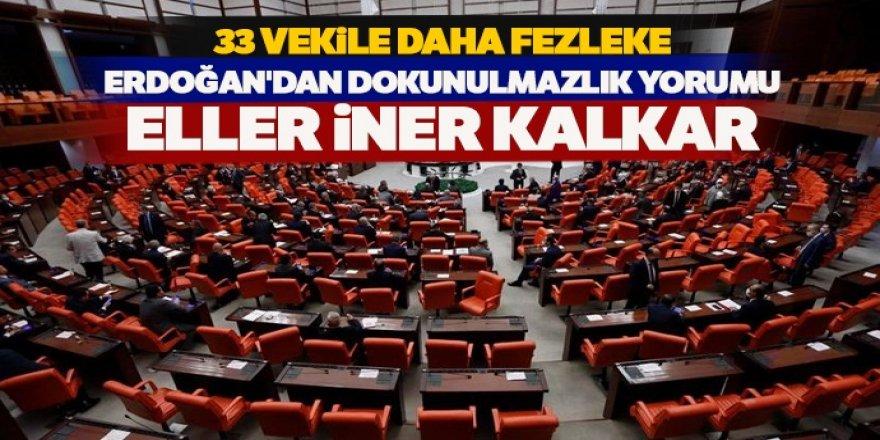 Erdoğan'dan dokunulmazlık yorumu: Eller iner kalkar