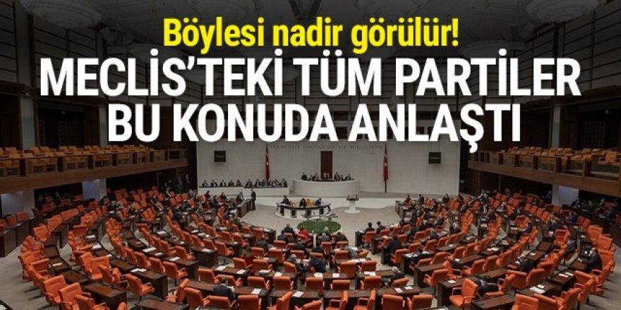 Meclis'teki tüm partiler bu konuda anlaştı