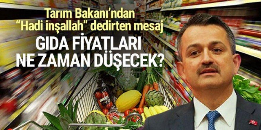 Tarım Bakanı gıda fiyatlarının düşeceği tarihi açıkladı