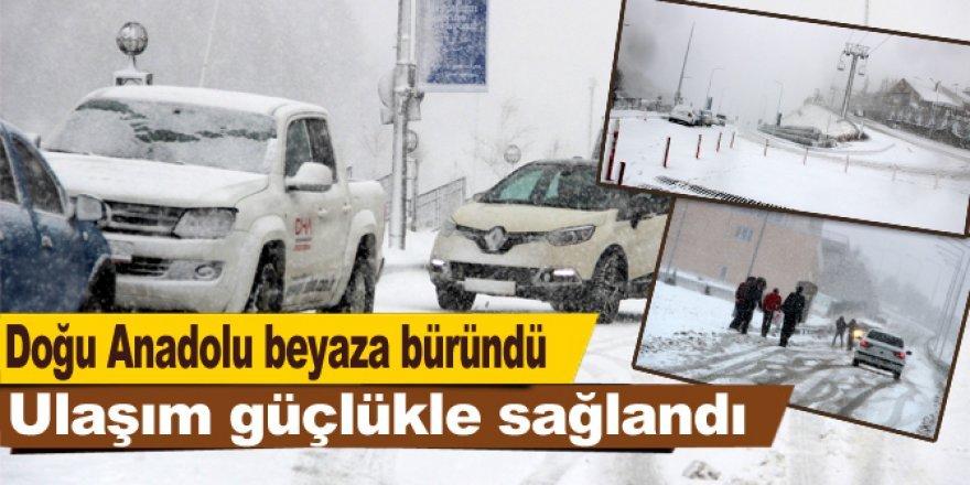Doğu Anadolu kar yağışıyla yeniden beyaza büründü