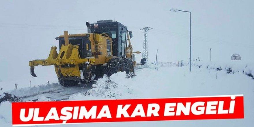 Doğu Anadolu'da kar nedeniyle 168 yerleşim yerine ulaşım sağlanamıyor