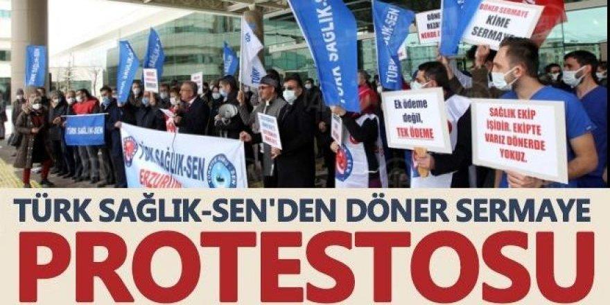 Türk Sağlık-Sen'den döner sermaye eylemi