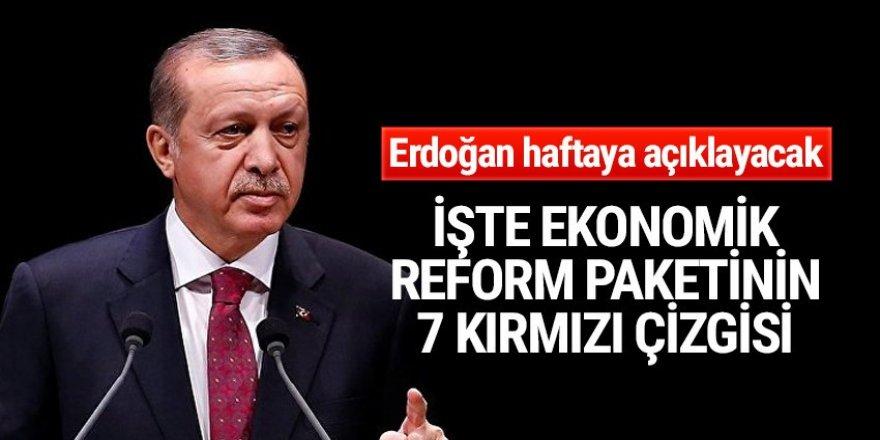 Ekonomik reform paketinin 7 kırmızı çizgisi