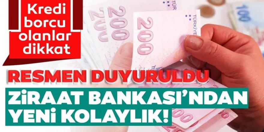 Ziraat Bankası, takipteki borcu 1 milyon TL'yi geçmeyen müşterilerine yeni ödeme imkanı sağladı
