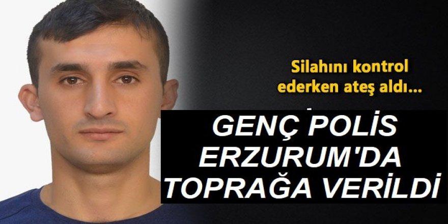 Genç polis memurunun cenazesi Erzurum'da toprağa verildi