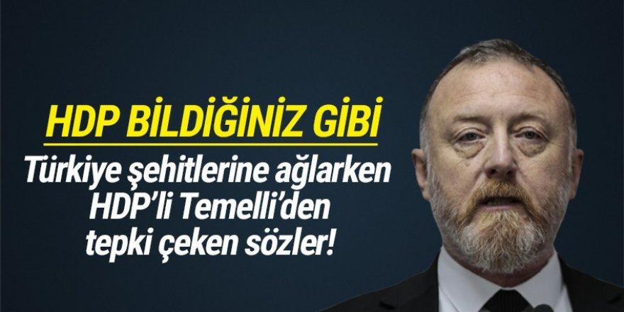HDP'li Sezai Temelli'den helikopter kazası için tepki çeken sözler