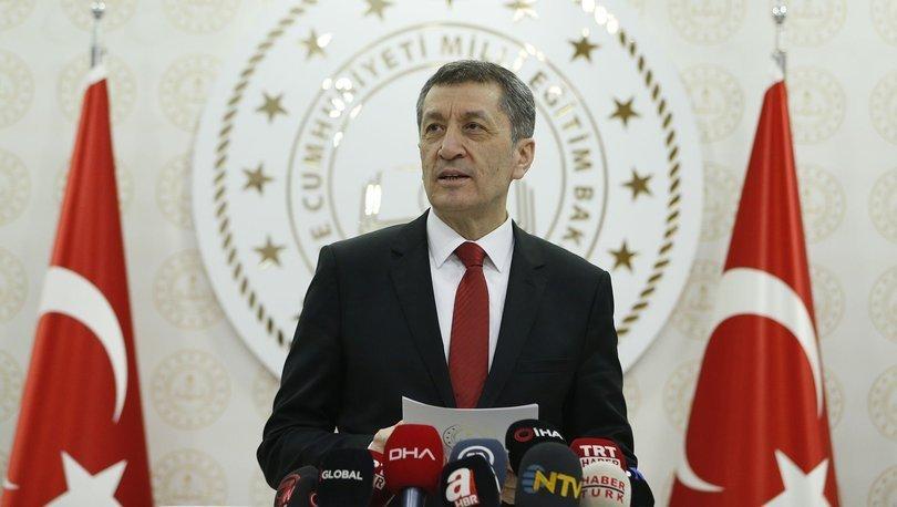 Milli Eğitim Bakanı Bakan Selçuk'tan yüz yüze eğitim açıklaması