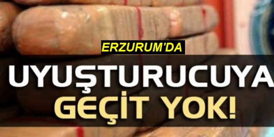 Erzurum'da 39 kilo 351 gram uyuşturucu maddesi ele geçirildi