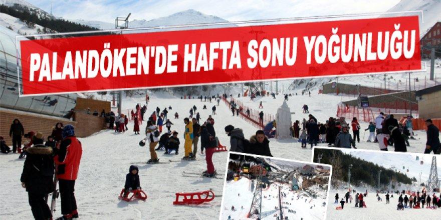 Doğu Anadolu'daki kayak merkezlerinde hafta sonu yoğunluğu