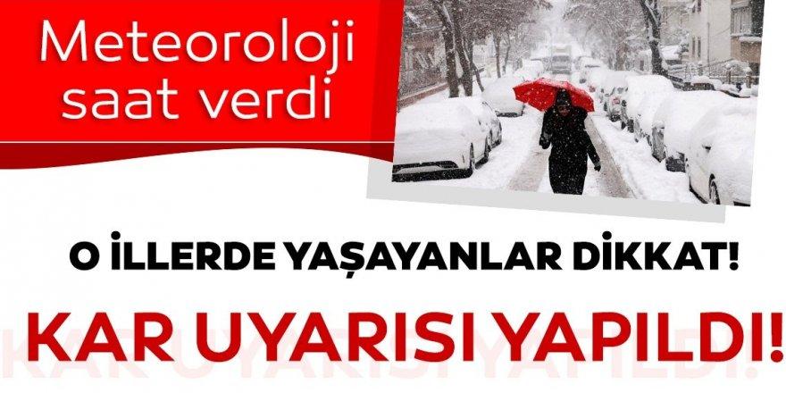 Erzurum, Ağrı ve Kars için kuvvetli kar uyarısı