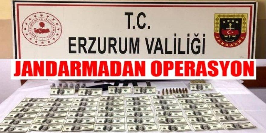 Erzurum'da 2 bin 500 sahte dolar ele geçirildi