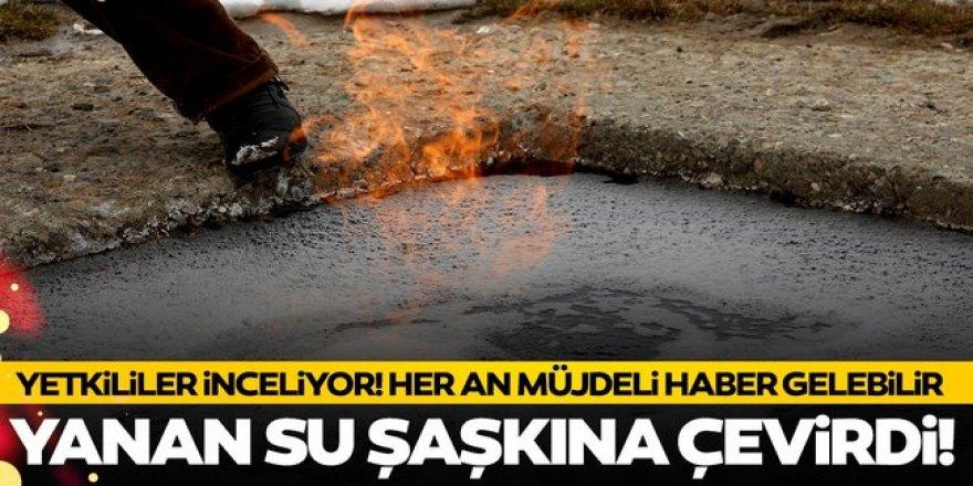 Erzurum'daki 'yanan su' görenleri şaşkına çeviriyor!