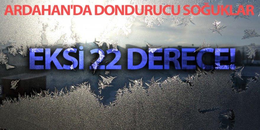 Ardahan'da dondurucu soğuklar: Göle'de Eksi 22 derece görüldü