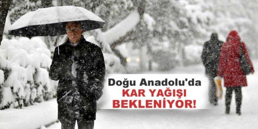 Erzurum, Kars, Ağrı, Iğdır ve Ardahan'da kar yağışı bekleniyor