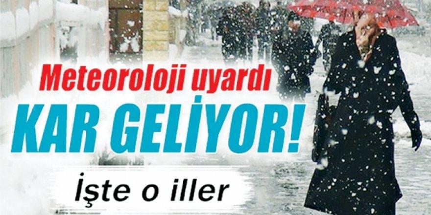 Doğu Anadolu'daki 4 ilde karla karışık yağmur ve kar bekle
