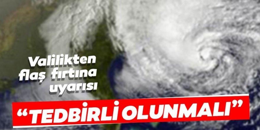Doğu Anadolu Bölgesi'ndeki 6 il için fırtına uyarısı