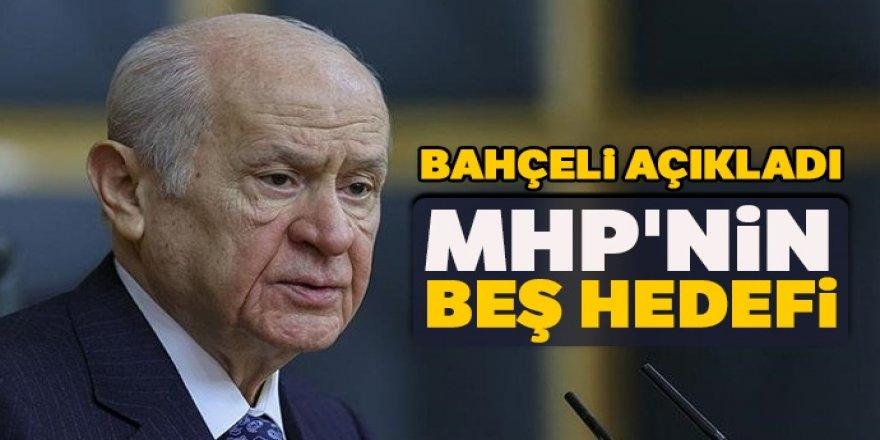 Bahçeli açıkladı: MHP'nin beş hedefi