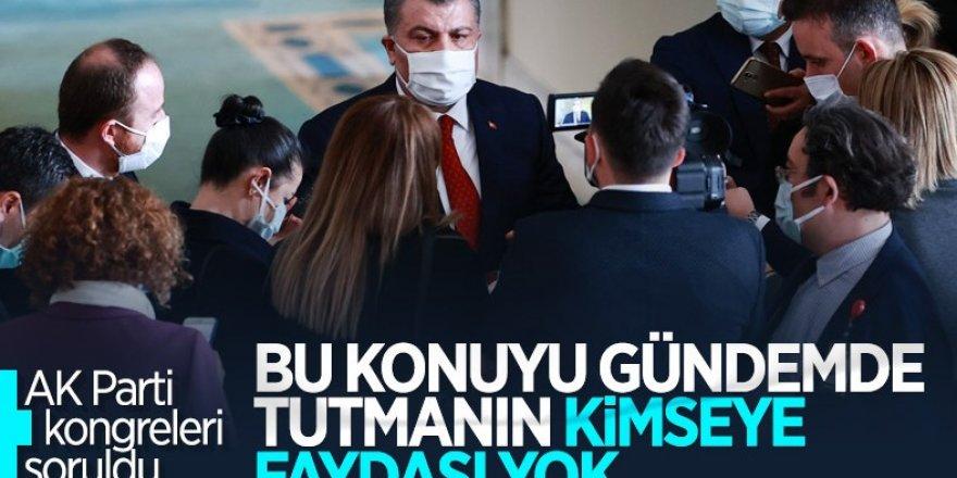 Sağlık Bakanı Fahrettin Koca'ya AK Parti kongreleri soruldu