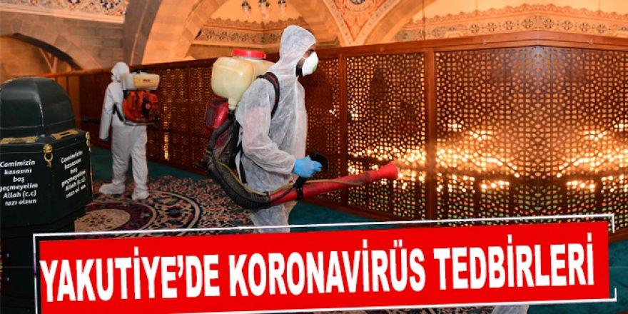 Yakutiye Belediyesi cami ve mescitleri dezenfekte ediyor