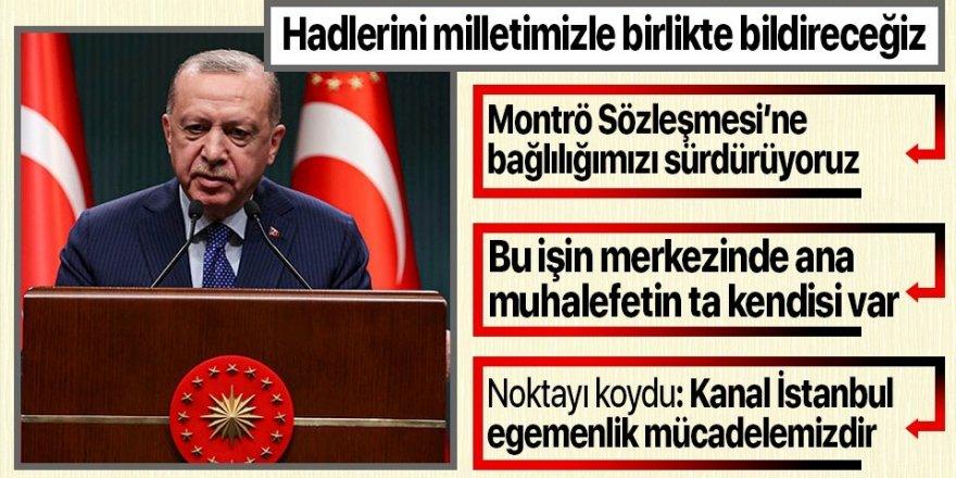 Cumhurbaşkanı Erdoğan konuşuyor: Gerçekleştirilen bu eylem kesinlikle art niyetli bir girişimdir