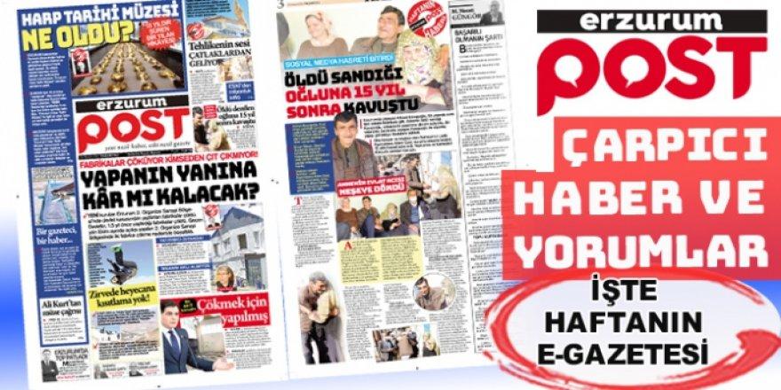 Erzurum Post günden oluşturuyor