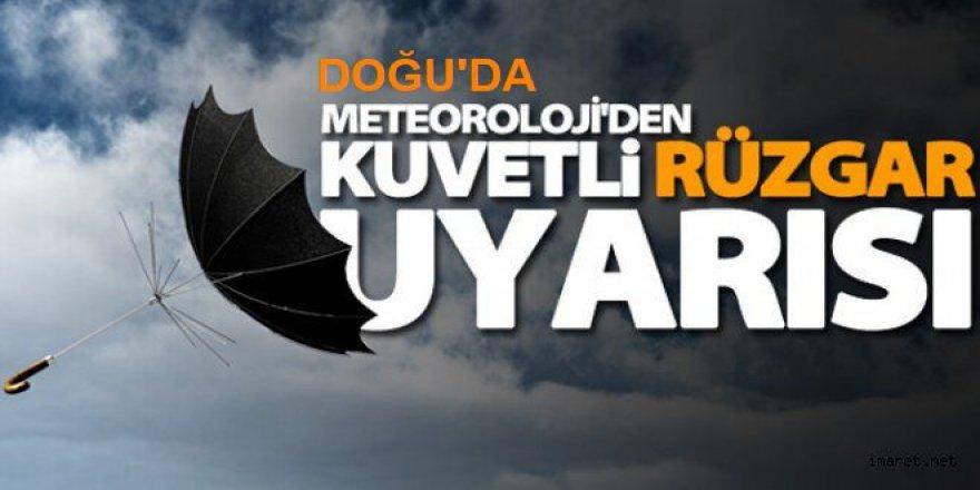 Doğu Anadolu'da kuvvetli rüzgar bekleniyor