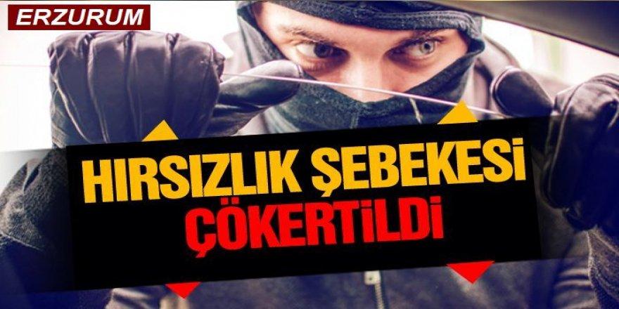 Erzurum'da Organize hırsızlık şebekesi çökertildi