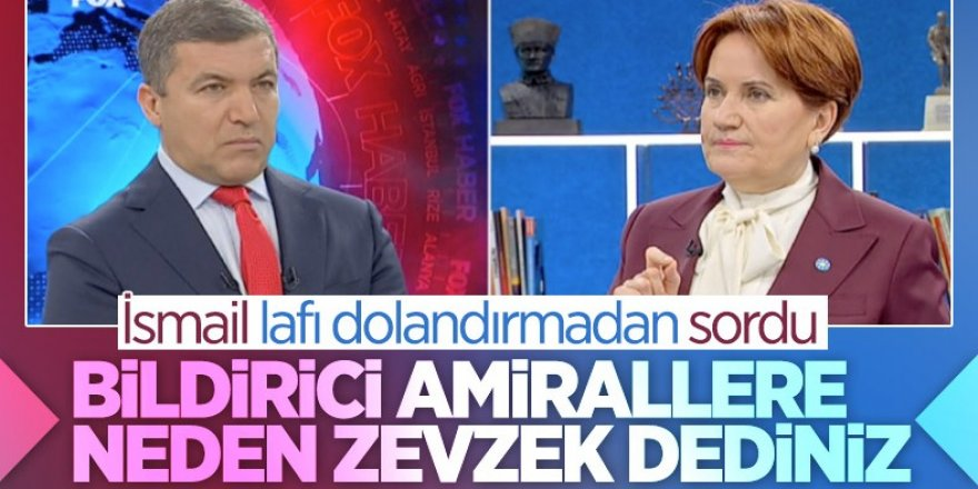 İsmail Küçükkaya'dan Meral Akşener'e zevzek sorusu