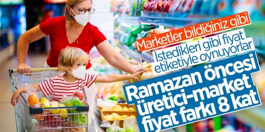 Ramazan öncesinde gıda ürünlerinde fahiş artış