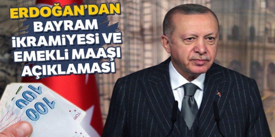 Erdoğan'dan bayram ikramiyesi ve emekli maaşı açıklaması
