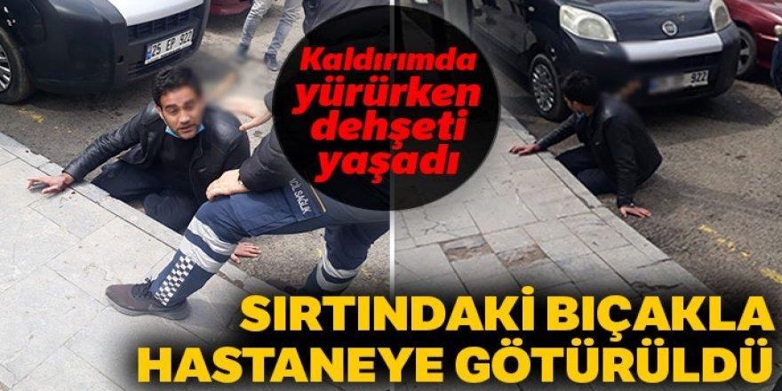 Erzurum'da korkunç olay! Kaldırımda yürürken dehşeti yaşadı,