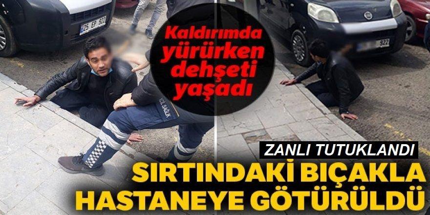 Erzurum'da bir kişiyi sırtından bıçaklayarak kaçan kişi tutuklandı