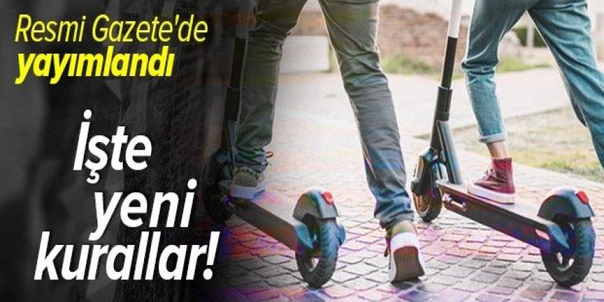 ''Elektrikli scooter'' genelgesi yayınlandı! İşte yeni yasaklar