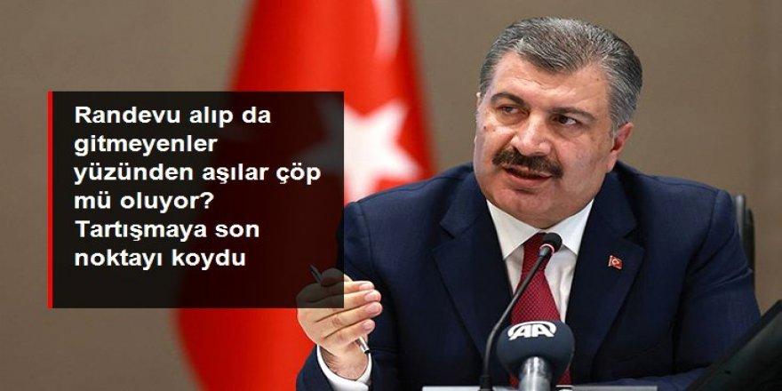"""Sağlık Bakanı Koca'dan """"Aşılar çöpe gidiyor"""" iddiasına yanıt:"""