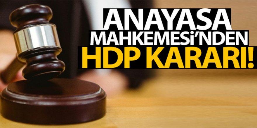 HDP iddianamesi iade edildi