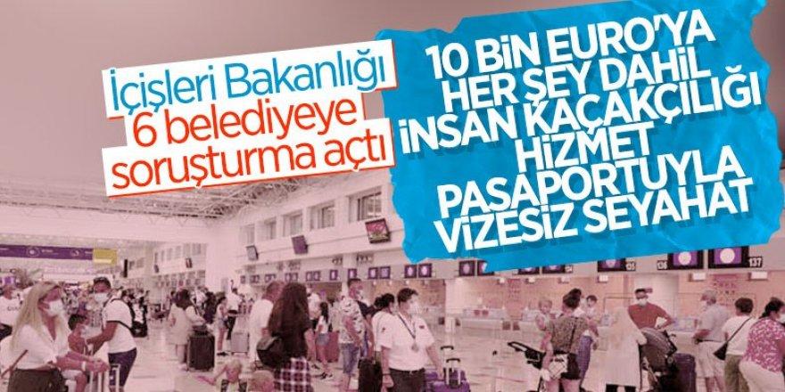 İçişleri Bakanlığından belediyeler aracılığıyla yurt dışına çıkışa yönelik yeni soruşturma