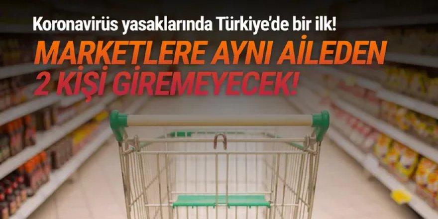 Türkiye'de bu bir ilk! Markete her aileden 1 kişi girebilecek!