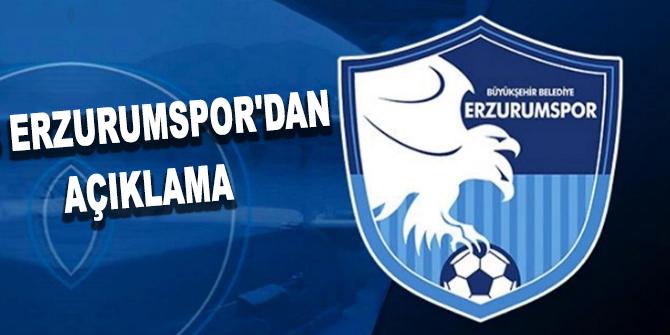 BB Erzurumspor'dan açıklama: