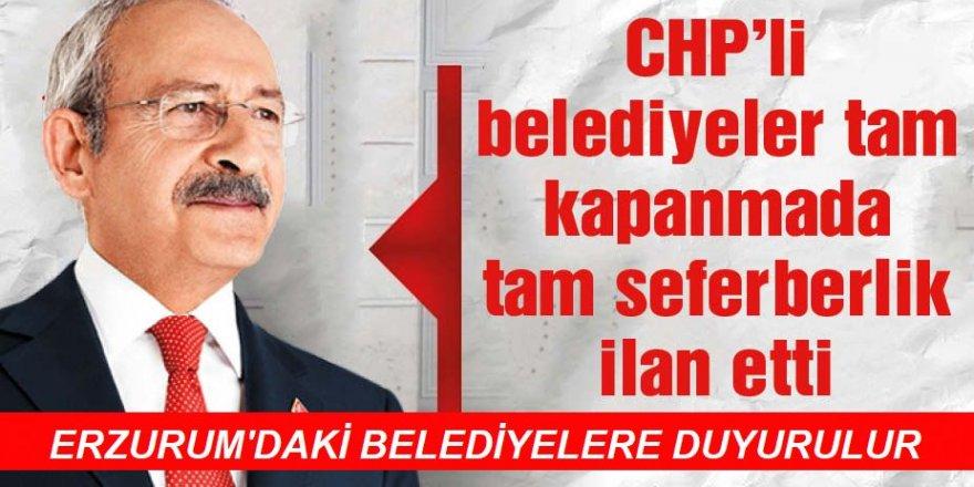 CHP'li belediyelerden tam kapanmada tam destek kararı