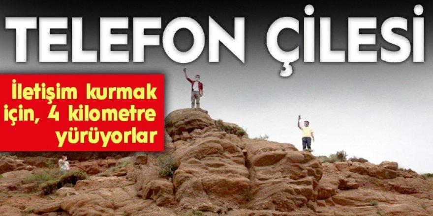 Erzurum'da Köylülerin iletişim çilesi